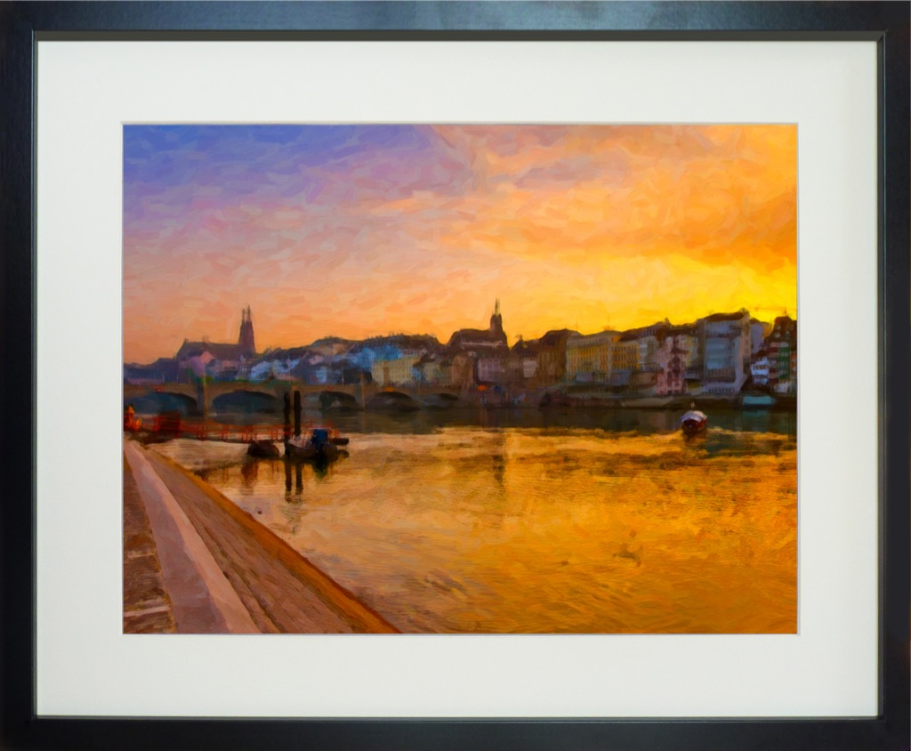 Basel panorama oil franklyn spence basel panorama oil black frame jeuxipadfo Gallery